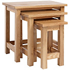 more details on Holly Oak Nest of Tables - Set of 3.