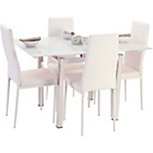 more details on Crayford Glass Dining Set - White.