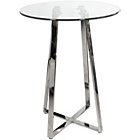 more details on Febland Poseur 4 Leg Base Glass Table - Clear.