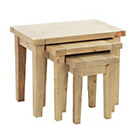 more details on Worthing Traditional Nest of 3 Tables - Pine.