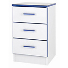 more details on Kiddi 3 Drawer Bedside Table - Blue.