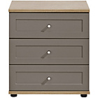 more details on Arianna Wide 3 Drawer Bedside Table - Bronze.