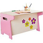 more details on Millhouse Kids' Toy Box and Desk - Flowers.
