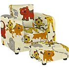 more details on Lara Children's Chair and Footstool Set - Jungle Party.