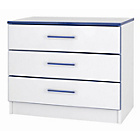 more details on Kiddi 3 Drawers Chest - Blue.