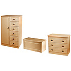 more details on Paisley Kids Wardrobe, Drawer Chest and Blanket Box - Beech.