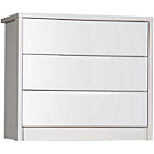 more details on Avola 3 Drawers Chest of Drawers - White.