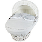 more details on Clair de Lune White Wicker Stardust Moses Basket - White.