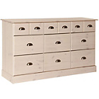 more details on Huntly 6+6 Drawer Chest - Whitewash.