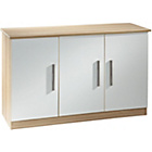 more details on Living 3 Door Ready Assembled Sideboard - White.