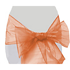 more details on Organza Pack of 6 Chair Bow - Peach.
