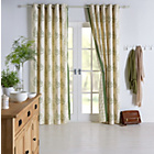 more details on Heart of House Fern Lined Curtain - 66x72 - Green.
