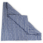 more details on Win Green Multi Stripe Cotton Floor Quilt - Navy.