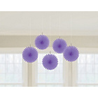 more details on Paper Decorative Pack of 10 Fan Decorations - Purple.