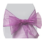 more details on Organza Pack of 6 Chair Bows - Lilac.