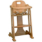 more details on East Coast Nursery All Wood Multi-Height Highchair - Natural