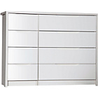 more details on Avola 4 Drawer Double Chest - White.