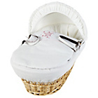 more details on Clair de Lune Natural Wicker Stardust Moses Basket - Pink.