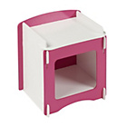 more details on Kidsaw Blush Jigsaw Bedside Cabinet - Pink/White.