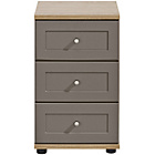 more details on Arianna Slim 3 Drawer Bedside Table - Bronze.