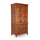 more details on East Indies 2 Door 2 Drawer Wardrobe - Dark Wood.
