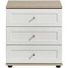 more details on Arianna Wide 3 Drawer Bedside Table - White.
