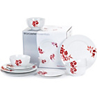 more details on Worcester Essentials 12 Piece Red Flora Dinner Set.