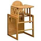 more details on East Coast Nursery All Wood Combination Highchair - Natural.