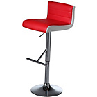 more details on Wilkinson Viva Faux Leather and Chrome Bar Stool - Red.