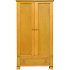 more details on East Coast Nursery Double Wardrobe with Hanging Rail - Antiq