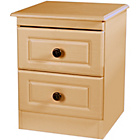 more details on Paisley Kids 2 Drawer Bedside Cabinet - Beech.