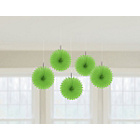 more details on Paper Decorative Pack of 10 Fan Decorations - Green.
