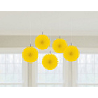 more details on Paper Decorative Pack of 10 Decorations - Yellow.