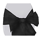 more details on Organza Pack of 6 Chair Bows - Black.