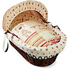 more details on Clair de Lune Dark Wicker Little Bear Moses Basket.