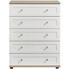 more details on Arianna 5 Drawer Chest - White.