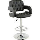 more details on Heartlands Furniture Faux Leather & Chrome Bar Stool - Black