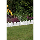 more details on White Plastic Lawn Edging - Pack of 8.