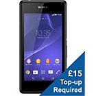 more details on O2 Sony Xperia E3 Mobile Phone - Black.