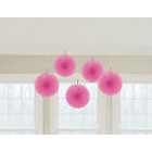 more details on Paper Decoratative Pack of 10 Fan Decorations - Pink.