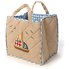 more details on Win Green Beige Quilted Boat House Toy Bag.
