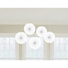 more details on Paper Decorative Pack of 10 Fan Decorations - White.