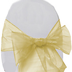 more details on Organza Pack of 6 Chair Bows - Ivory.