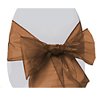 more details on Organza Pack of 6 Chair Bows - Chocolate.
