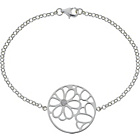more details on Sterling Silver Cut Out Flower Cubic Zirconia Disc Bracelet.