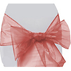 more details on Organza Pack of 6 Chair Bows - Pink.