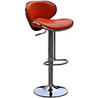 more details on Wilkinson Nigella Leatherette and Chrome Bar Stool - Orange.