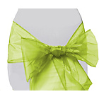 more details on Organza Pack of 6 Chair Bows - Lime Green.