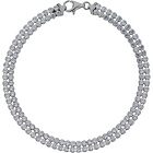more details on Sterling Silver 2 Row Cubic Zirconia Tennis Bracelet.