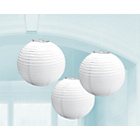 more details on Paper Decorative Pack of 3 Lantern Decorations - White.